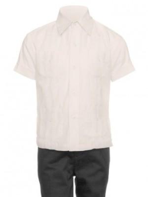 Gentlemens Collection Little Boys Cotton Blend Short-Sleeves Guayabera Shirt
