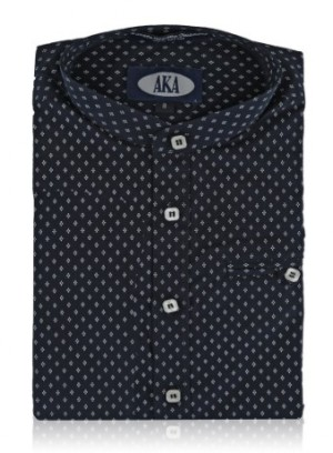 Paul Bernado Boys Dress Shirt Short Sleeve-Manderin Collar