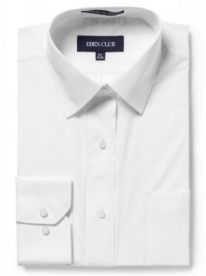 Eden Club Mens White Long Sleeve Chusid Dress Shirt