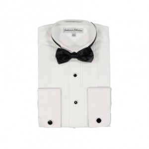 Gentlemens Collection Mens Tuxedo Shirts Poly Cotton