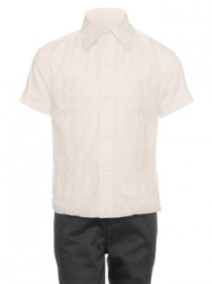 Gentlemens Collection Little Boys Cotton Blend Short-Sleeves Guayabera Shirt