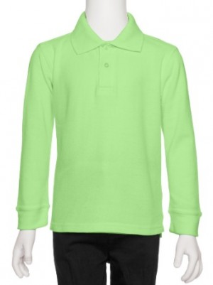 AKA Boys Long-Sleeve Solid Pique Knit Polo