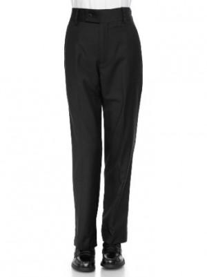 Giovanni Uomo Boys Husky Flat-Front Back Elastic Poly Rayon Dress Slack