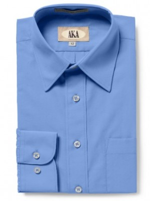 AKA Boys Long-Sleeve Classic Fit Solid Dress Shirt