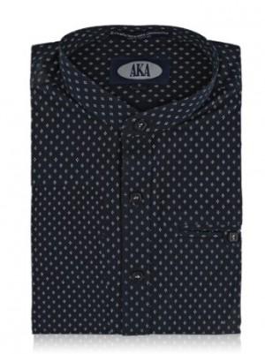 Paul Bernado Boys Dress Shirt Long Sleeve-Manderin Collar