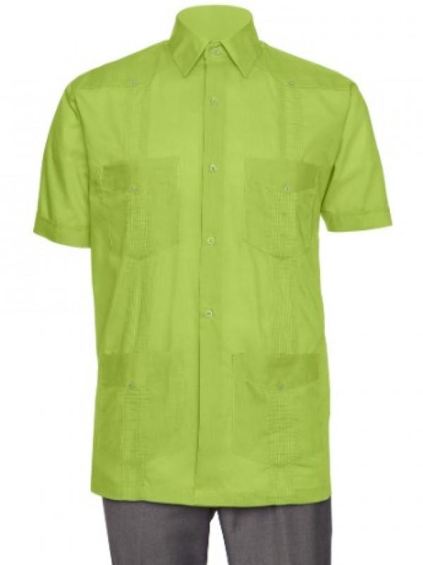 Gentlemens Collection Big Boys Little Boys Long Sleeve//Short Sleeve Linen Look Guayabera Shirt